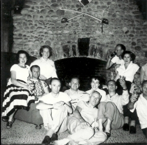 Enjoying the Club House after the war