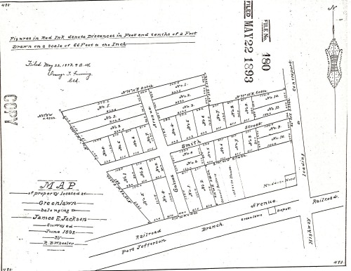 Subdivision filed by Ballton's son-in-law James E. Jackson