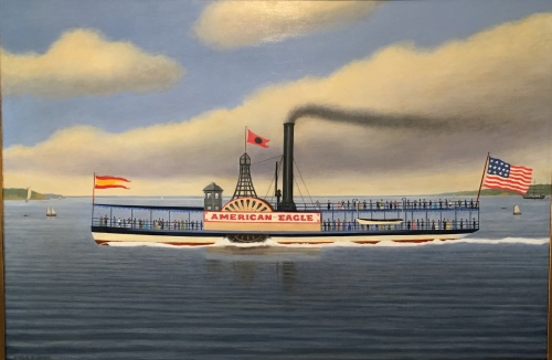 The American eagle depicted in a recent painting by artist Bill Jonas.